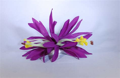 12 cm Spider-Lily-Haarclip lila - Hawaii-Store