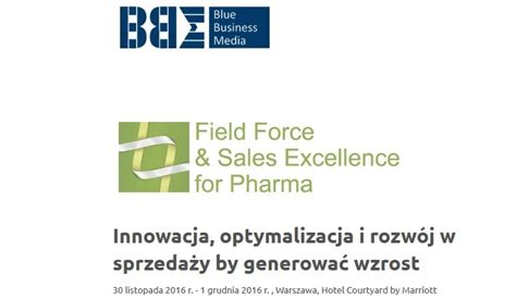 Konferencja Field Force and Sales Excellence for Pharma