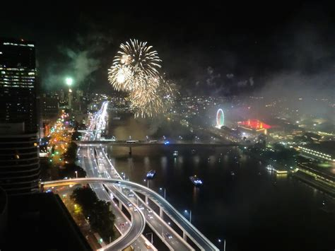 New Year's Eve Fireworks Cam at Southbank, Brisbane
