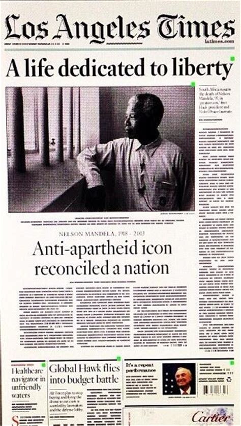 Vale Nelson Mandela: the world mourns - the newspaper