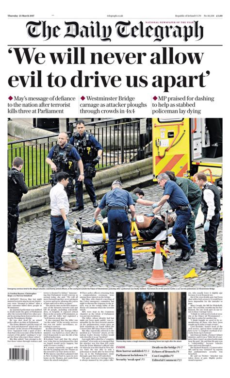 How the front pages of newspapers are reporting the London