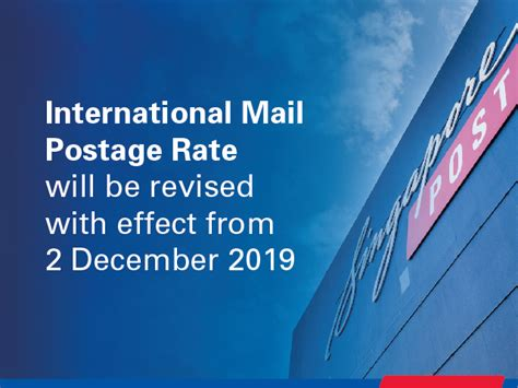 Postage Rates & Delivery Times | Singapore Post