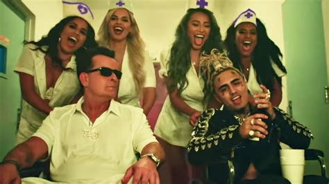 Charlie Sheen Stars in Lil Pump's 'Drug Addicts' Music
