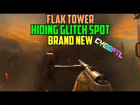 CoD WW2 Glitches: WWII Flak Tower Small Out of Map Hiding