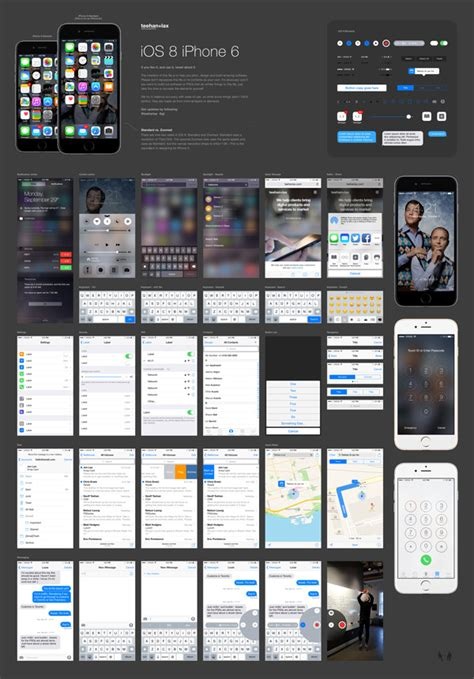 iOS 8 GUI PSD for iPhone 6 | GraphicBurger