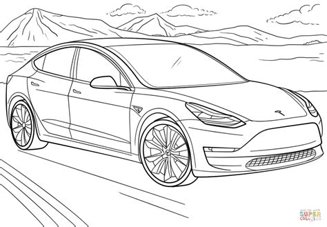 Image result for tesla car coloring pages | Cars coloring