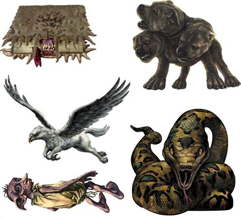 List and classification of magical creatures by the