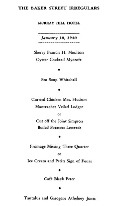 """""""ENTERTAINMENT AND FANTASY"""": THE 1940 DINNER published"""