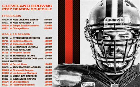 2017 Cleveland Browns schedule: watch every game in NYC