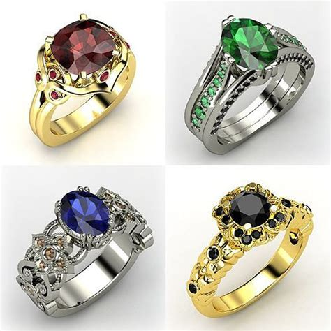 Rings inspired by the Hogwarts Houses Gryffindor