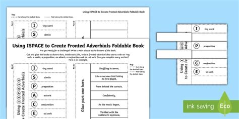 What Is a Fronted Adverbial?: Fronted Adverbial Foldable