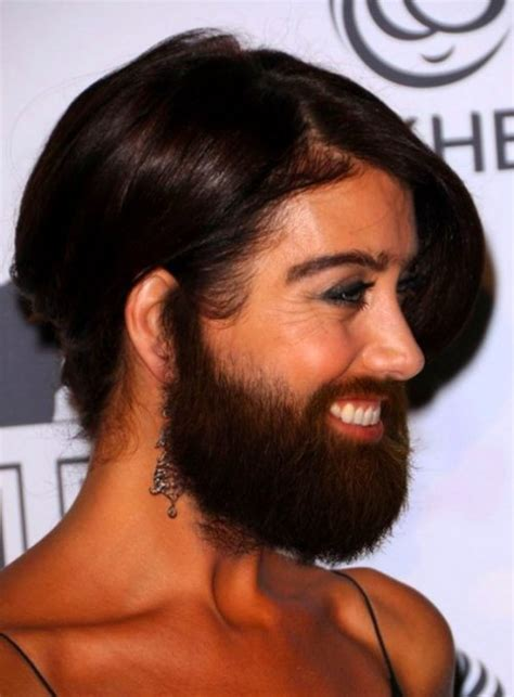 30 Female Celebrities with Beard and Body Hair! - FunCage
