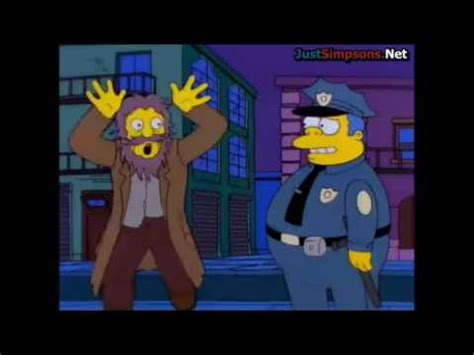 The Simpsons - Crazy Homeless Man Ranting - YouTube