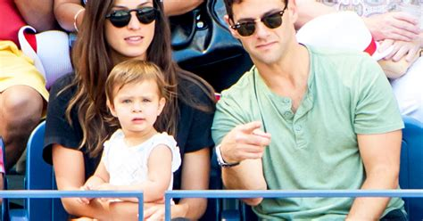 Justin Bartha Brings Daughter Asa, 16 Months, to US Open