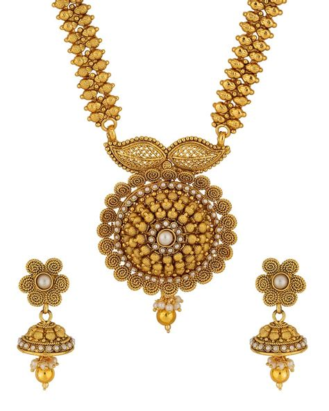 Purchase Online | DESIGNER YELLOW GOLD PLATED LONG