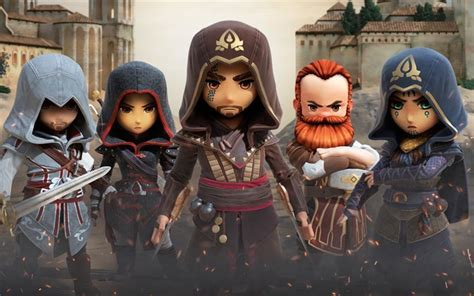 Download wallpapers Assassins Creed Rebellion, 2017, LEGO