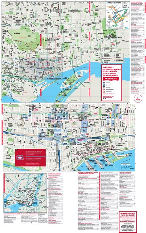 Montreal tourist attractions map